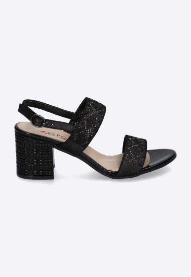 Sandały ze zdobieniem na obcasach REPO