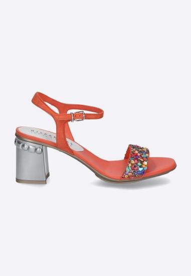 Sandały z kolorowym zdobieniem HISPANITAS