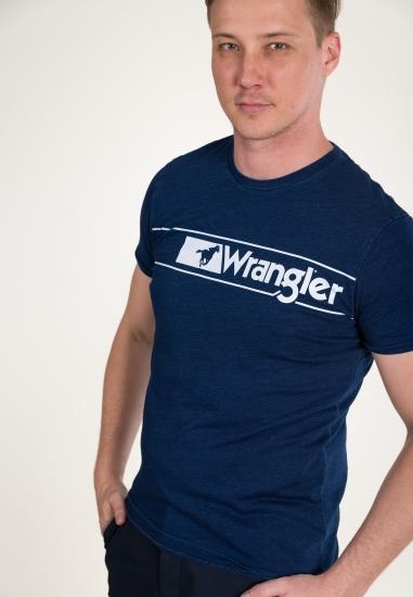 Bawełniany t-shirt z nadrukiem WRANGLER