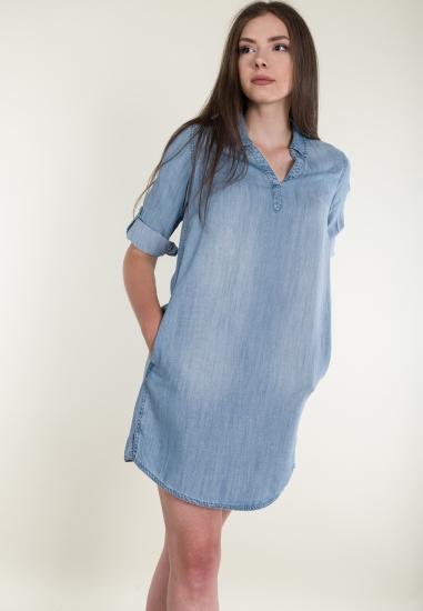 Jeansowa sukienka mini z...