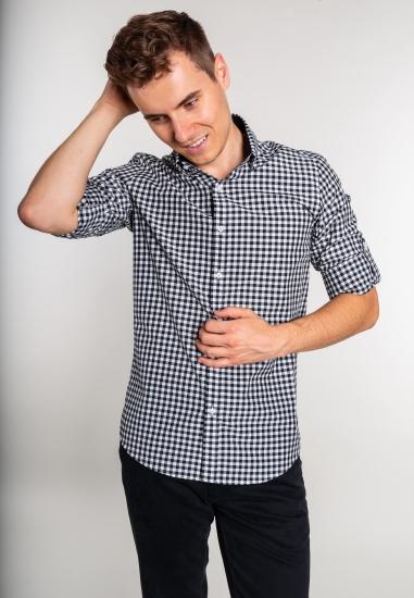 Koszula męska w kratkę Eks...