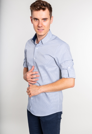 Wzorzysta koszula męska Eks...