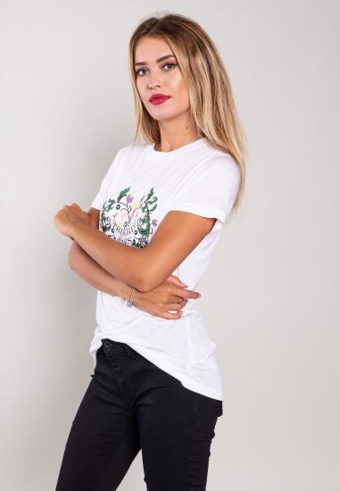 T-shirt z modalu Trussardi...