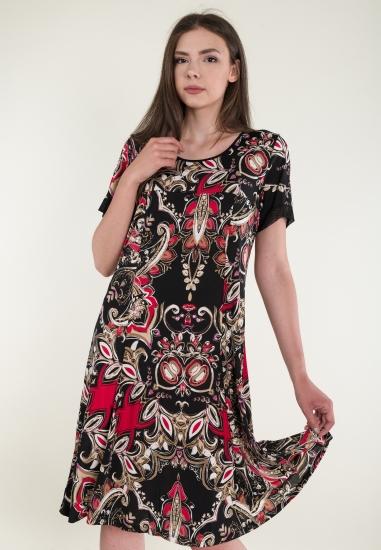 Wzorzysta sukienka midi...
