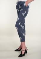 Spodnie w kropki z motywem kwiatowym GOCCE DI ELENA