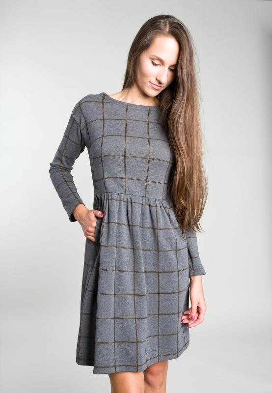 0539471197 Dzianinowa sukienka w kratkę Penny Black - Nico - Odzież i Obuwie