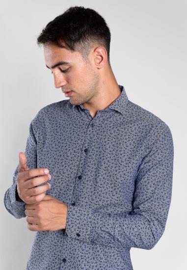 Wzorzysta koszula slim fit Digel