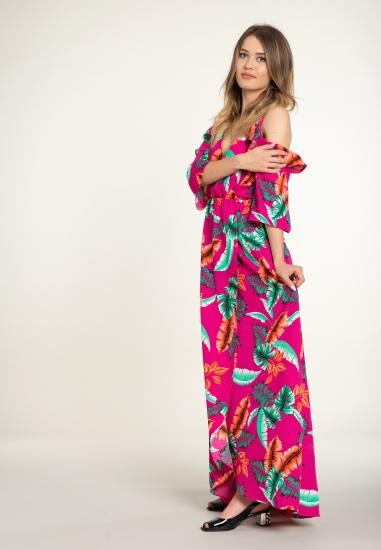 Wzorzysta sukienka maxi EKS...