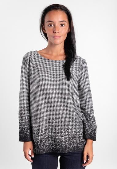 Sweter w pepitkę Street One
