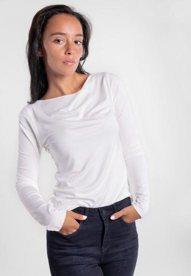 Gładka bluzka z wiskozy Eks