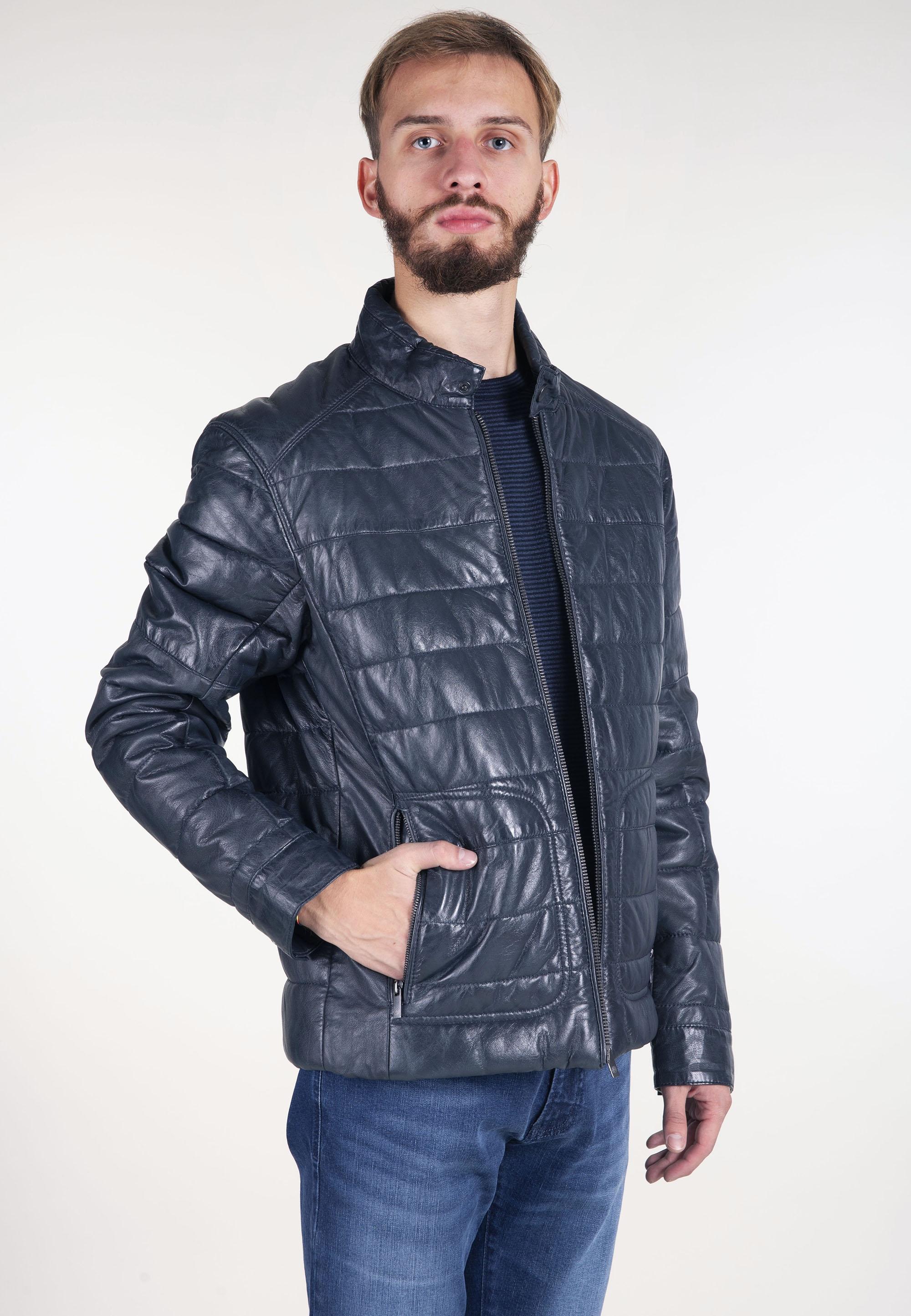 b5536627b6a2c Skórzana pikowana kurtka Bugatti - Nico - Odzież i Obuwie