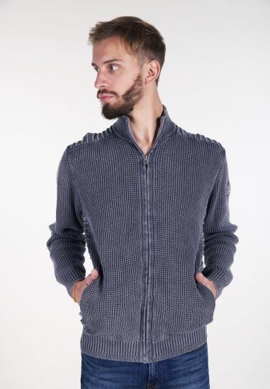 Rozpinany sweter z efektem sprania Pioneer