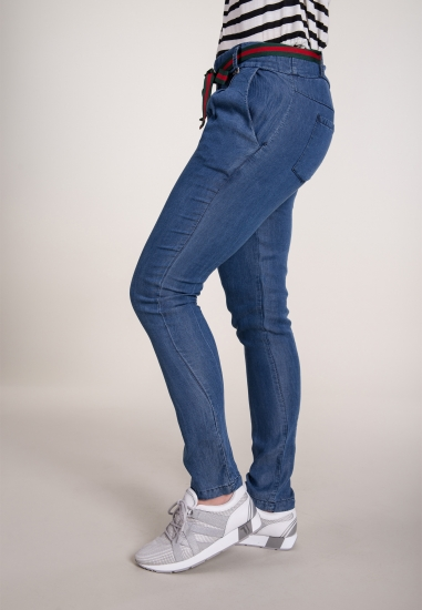 Luźne spodnie ze wstążką...