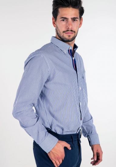 Bawełniana koszula w paski...