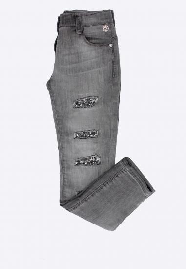 Spodnie jeansowe z dziurami i cekinami Sarabanda