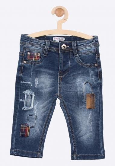 Jeansy z naszywkami mini...