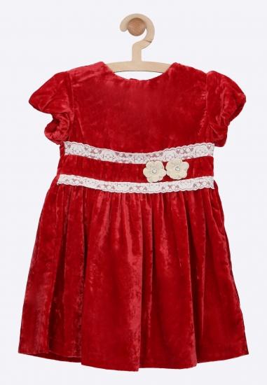 Welurowa sukienka z...