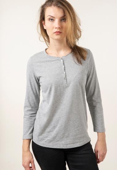 Koszulka z bawełny z guzikami Joggy