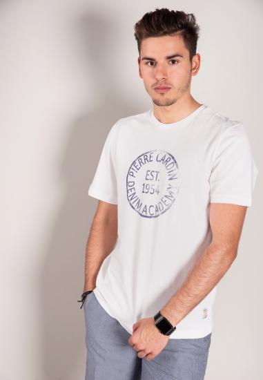 T-shirt z nadrukiem PIERRE CARDIN