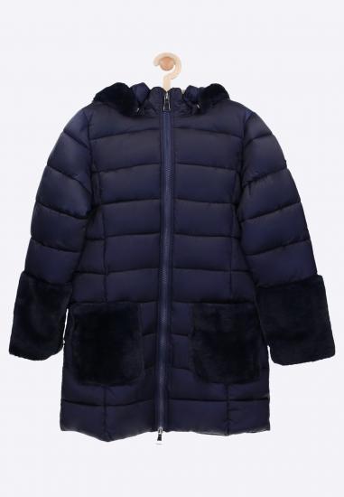 Pikowana kurtka z futerkiem...
