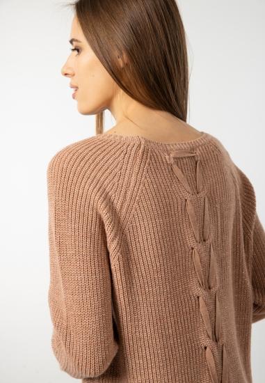 Sweter ze zdobieniem z tyłu Main&Land