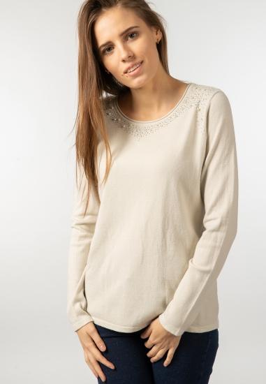 Sweter z perełkami gaia b -...