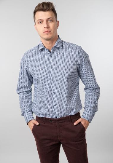 Wzorzysta koszula slim fit Venti