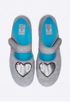 Pantofle dziewczęce z serduszkiem SUPERFIT