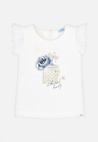 Koszulka z nadrukiem dziewczęca Mayoral