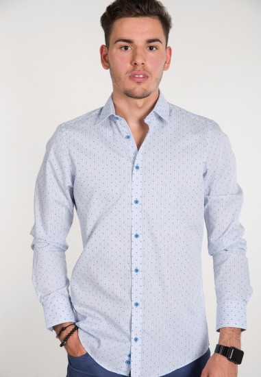 Koszula w drobne wzorki...