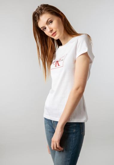 T-shirt z nadrukiem Calvin...