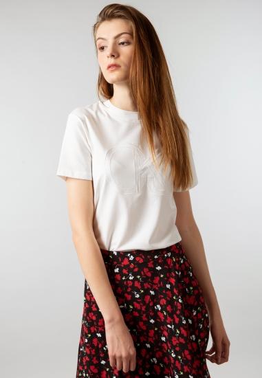 Koszulka damska z mieszanki bawełny i modalu Calvin Klein