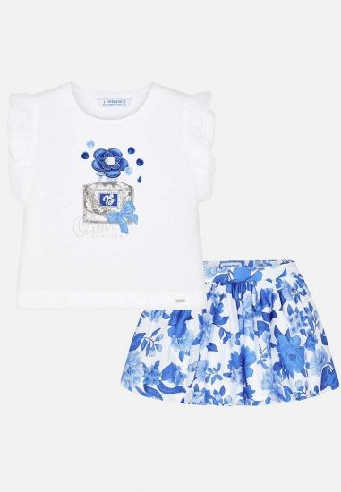 Komplet dziewczęcy koszulka + spódniczka Mayoral