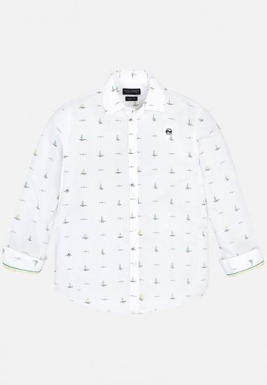Wzorzysta koszula chłopięca Mayoral