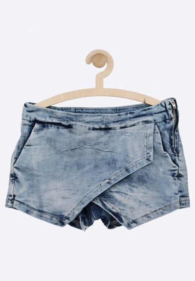 Kopertowe spodenki jeansowe MEK