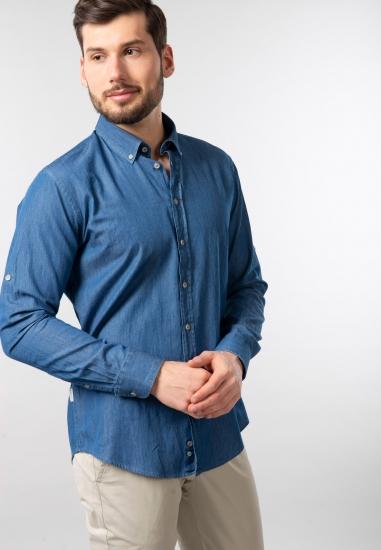 Koszula jeansowa męska modern fit Bugatti