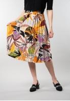 Plisowana wzorzysta spódnica midi Artigli