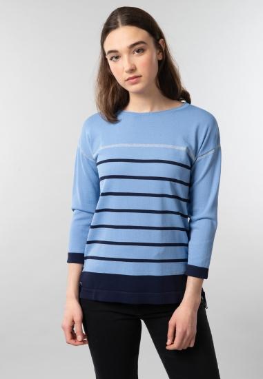 Sweter damski z wiązaniem...