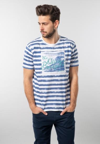 Męski t-shirt z nadrukiem Pioneer