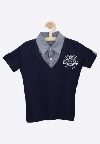 T-shirt z koszulową wstawka MELBY