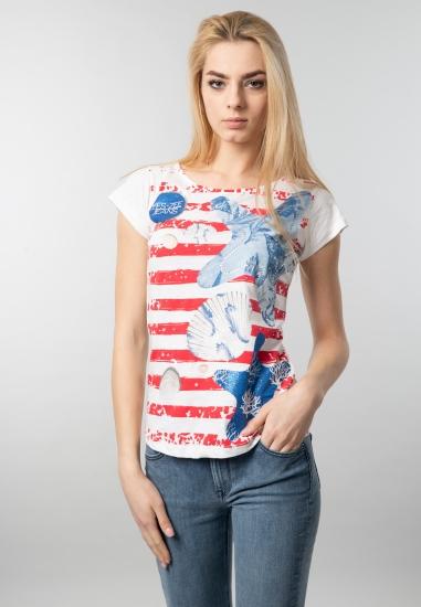T-shirt damski z nadrukiem Yes Zee