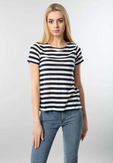 Lniana koszulka damska Garcia Jeans