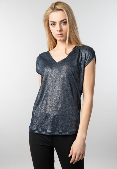 Świecąca lniana bluzka damska Garcia Jeans