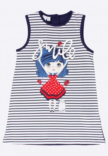 Sukienka bawełniana dziewczęca I Do - 0073854 GRANAT