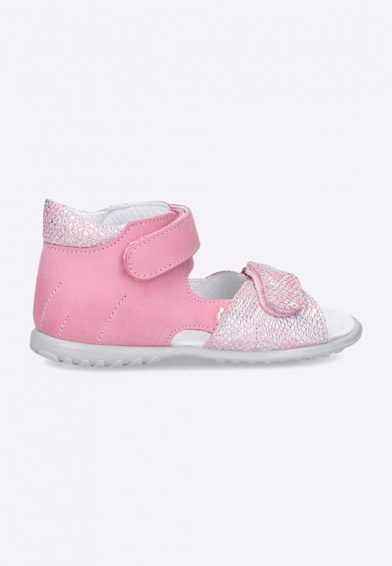 Sandały dziewczęce na rzepy Emel