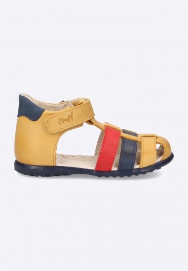 Kolorowe sandały na rzep Emel