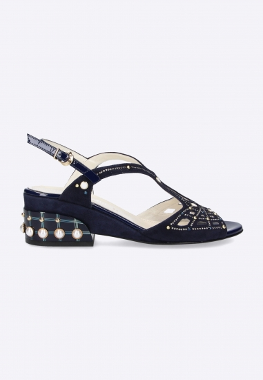 Zdobione sandały damskie Accademia
