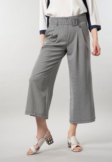 Spodnie damskie culotte w kratkę Ake