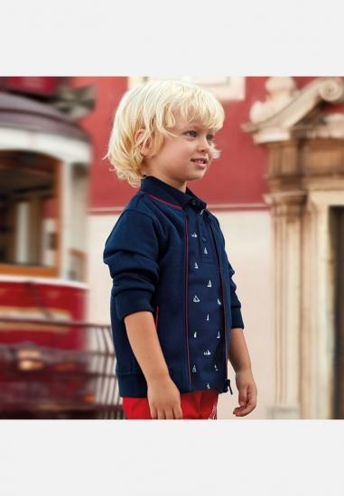 Chłopięca koszulka polo we wzory Mayoral