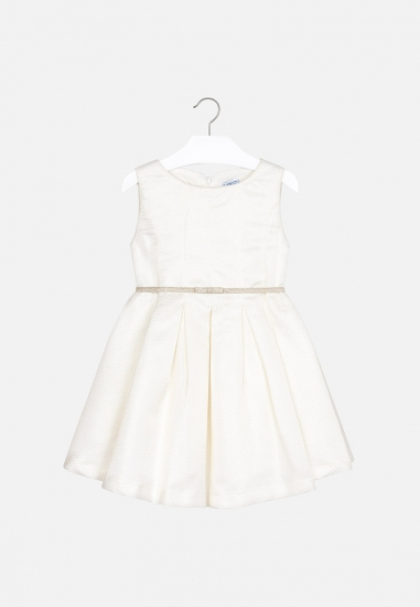 Plisowana sukienka z paskiem dla dziewczynki Mayoral